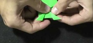 Make a paper origami frog that jumps