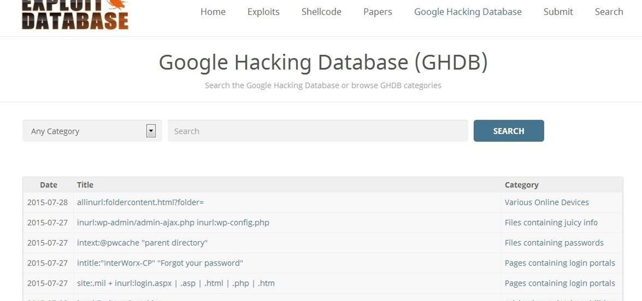 Use Google to Hack(Googledorks)
