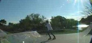 Do frontside grind on your rollerblades