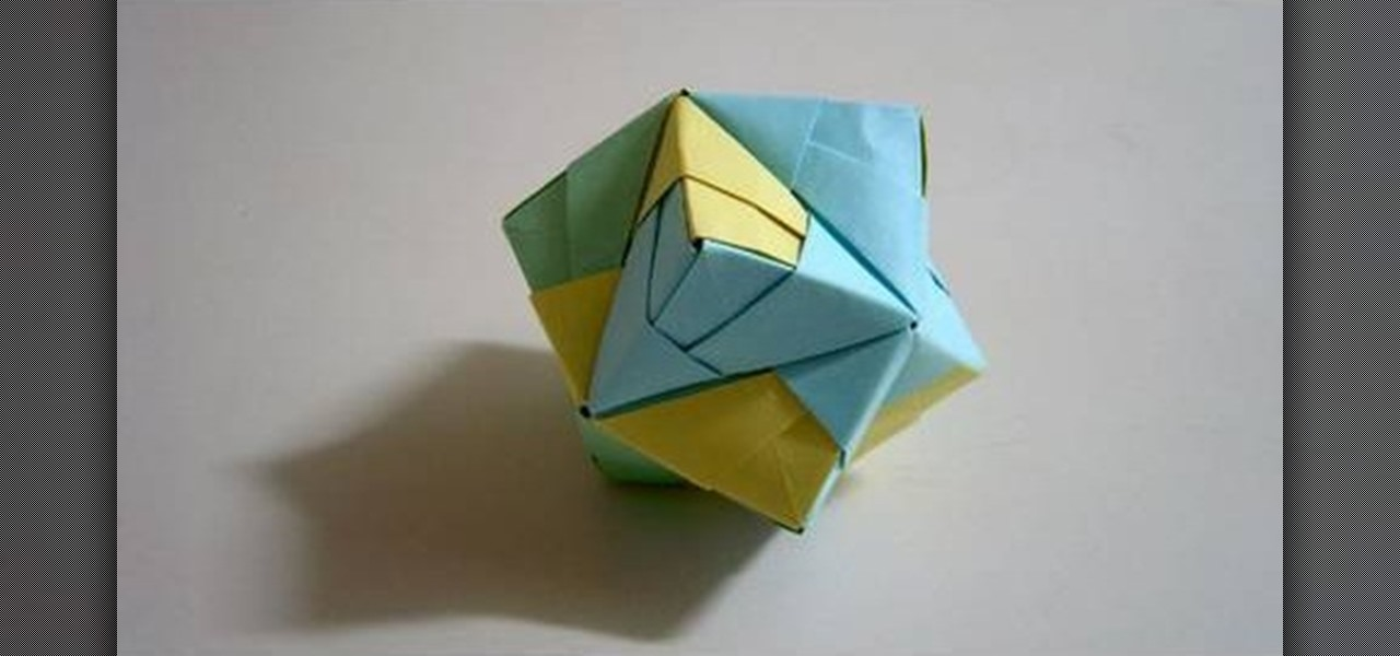 how to make a foldedpaper stellated octahedron with