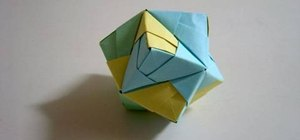 Make a folded-paper stellated octahedron with origami