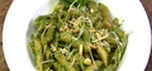 Make a traditional pesto sauce