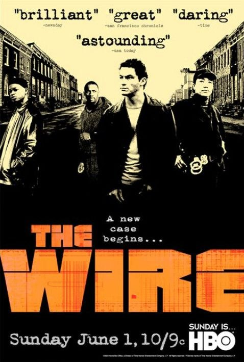 hbo the wire famous quotes video movie poster design. Black Bedroom Furniture Sets. Home Design Ideas