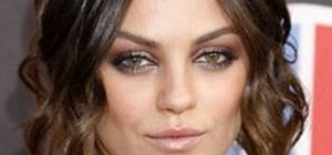 Create a taupe and cranberry Mila Kunis makeup look