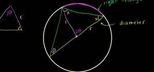 Prove a triangle inscribed in a circle is right angled