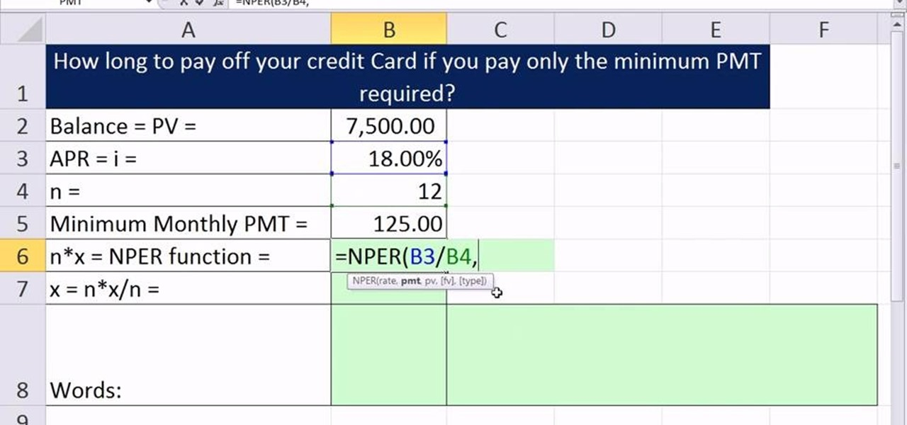 Calculate Credit Card Payoff  InfocardCo