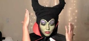 Use old clothes and makeup to make a Maleficent from Sleeping Beauty costume