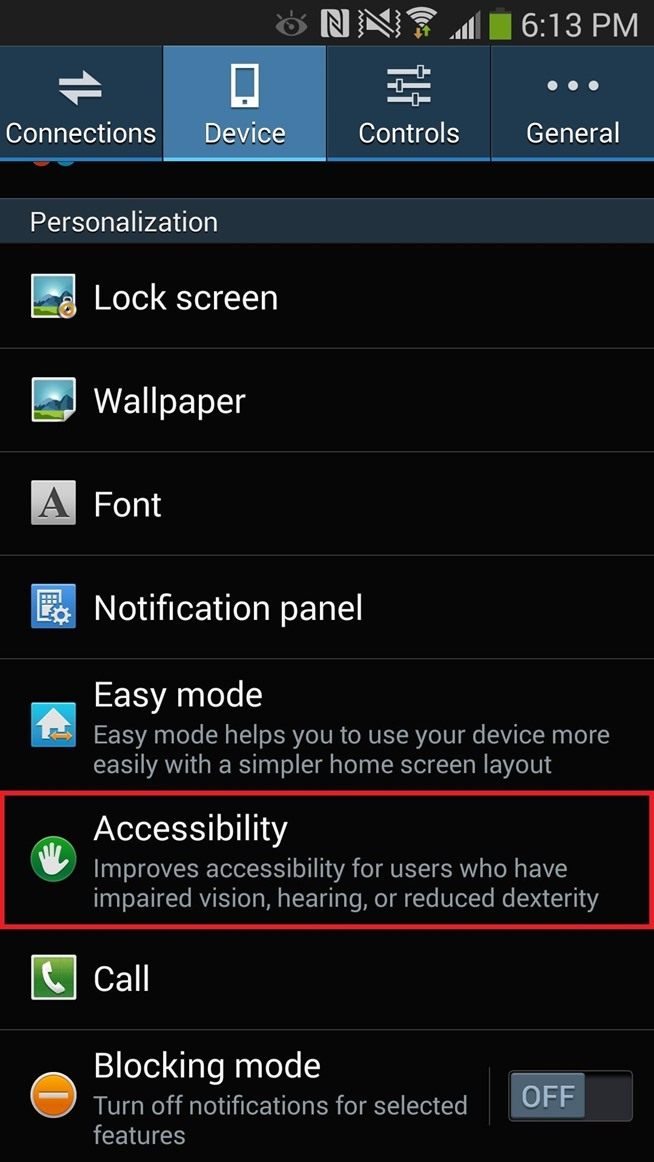 Samsung Galaxy Note 3 Phone Settings