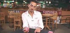 Do the four coin roll down poker chip trick