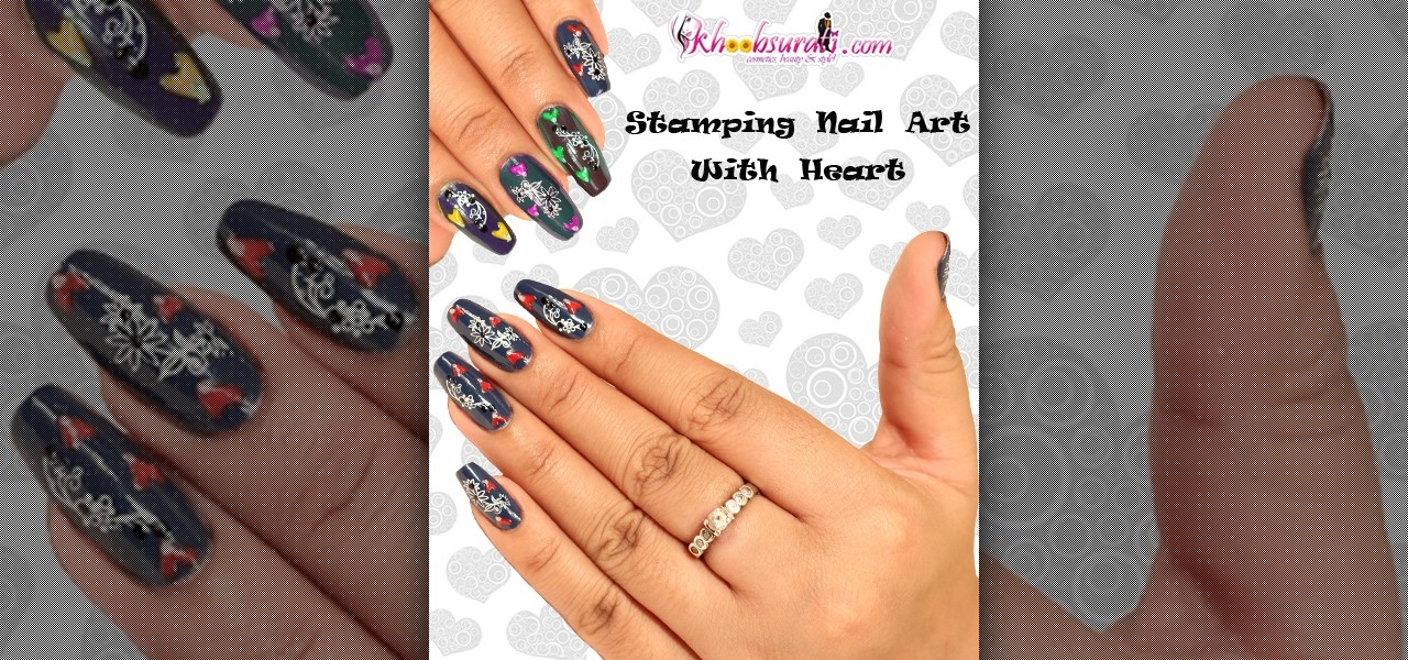 Stamping Nail Art with Heart - Do It Yourself