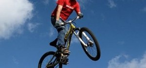 Jump a mountain bike