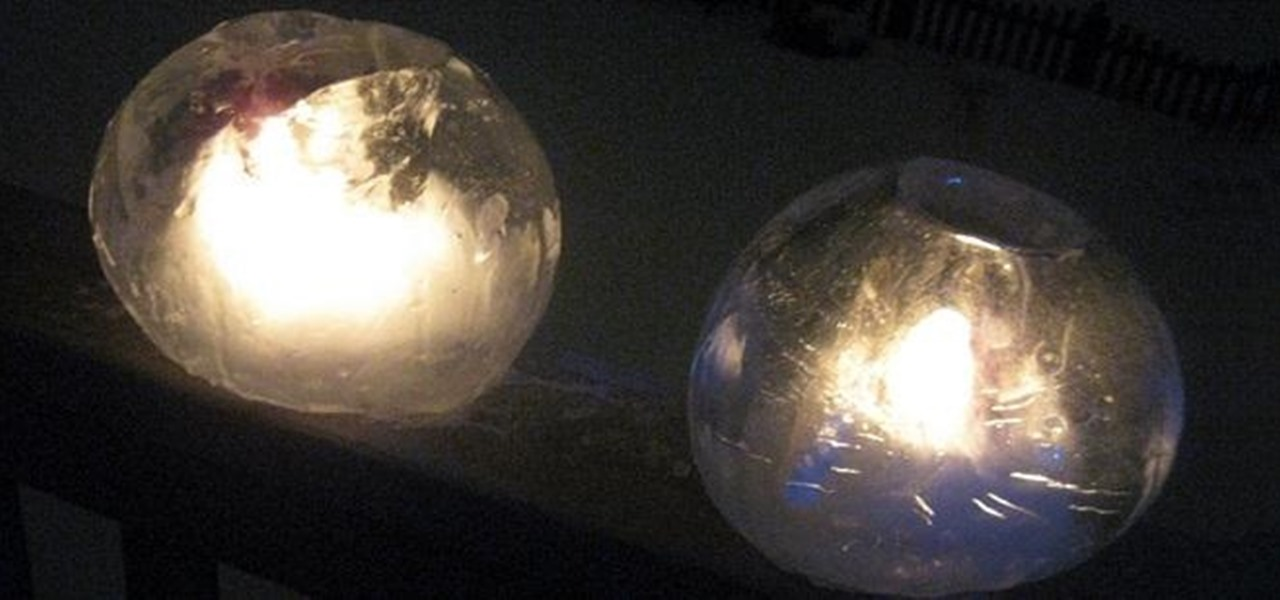 Make a Globe-Shaped Candle Lantern from Ice