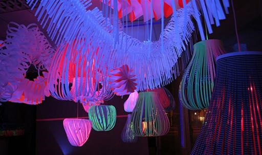 Elegantly Crafted Paper Chandeliers