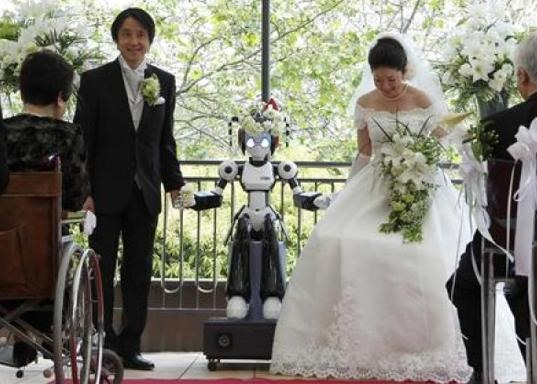 First Ever Marriage to be Blessed by Robot Priest