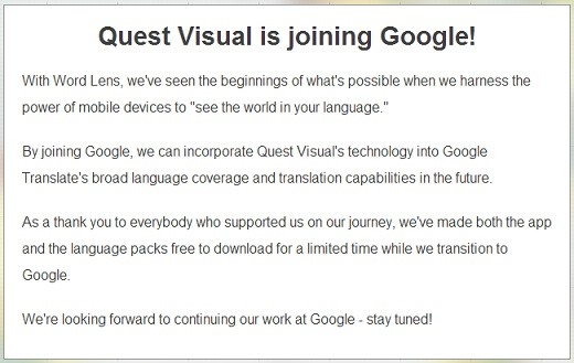 English To Italian Translator Google: Google Just Acquired Instant Translator Word Lens—All