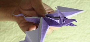 Fold a complex origami snake dragon