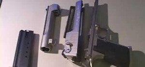 Field strip a Desert Eagle AE .50 caliber handgun