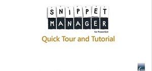 Use SnippetManager to manage code snippets for PowerGUI / Windows PowerShell
