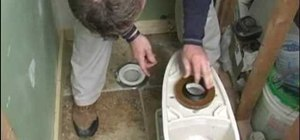 Install a toilet bowl for your bathroom
