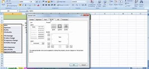 Use the Format Cells dialog box in MS Excel 2007