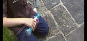 Make a water bottle rocket using hairspray