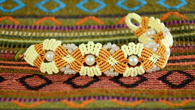 Blooming Macrame Bracelet Tutorial