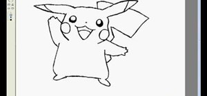 Draw Pikachu in MS Paint
