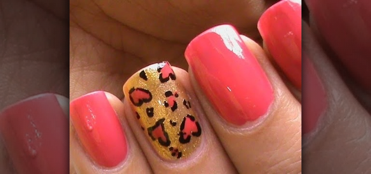 Do Heart Leopard Nails