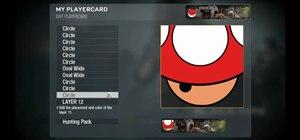 Create a custom Mario Bros mushroom emblem in Call of Duty: Black Ops