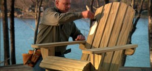 Construct a wooden Adirondack chair