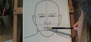 Draw a face with a pencil and a child