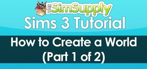 Create a world in Sims 3 using the World Builder tool