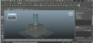 Use the boolean function with polygons in Maya 2011