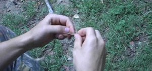 Make an cord eye splice for wilderness survival uses
