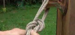 Tie a variation of the bowline knot for sailing