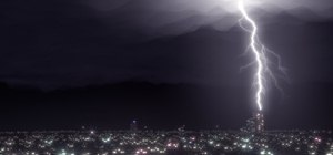 Create a realistic lightning storm effect in Blender