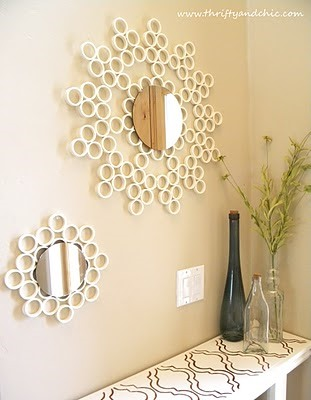 Thrifty and Chic - PVC Pipe Mirror Frames