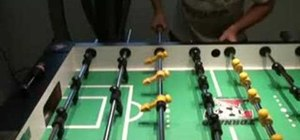 Score goals with a snake or rollover shot in foosball