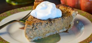 Make a black walnut pumpkin pie