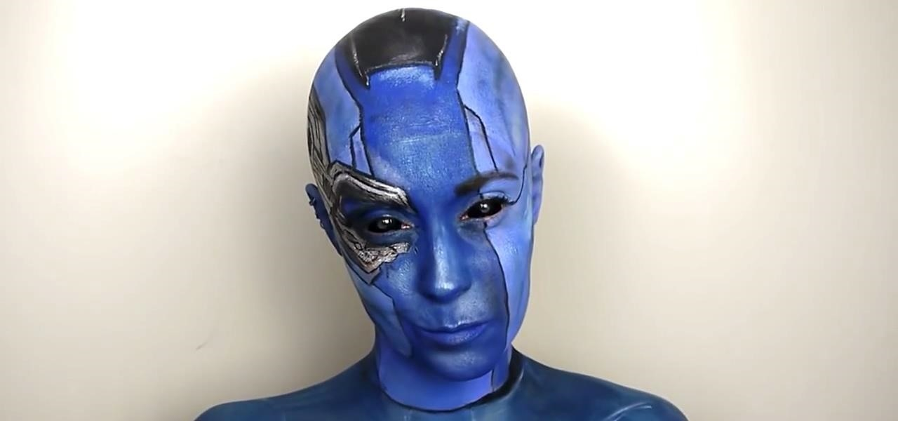 Be as Angry, Bald & Blue as Nebula from 'Guardians of the Galaxy' for Halloween