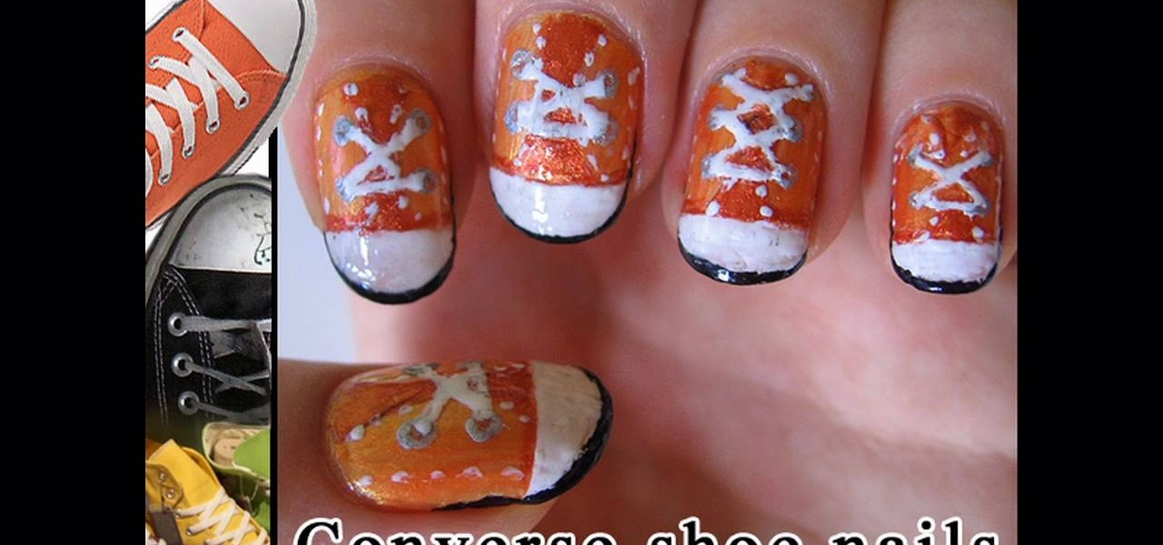 How To Paint Converse Shoe Nails Nails Manicure Wonderhowto