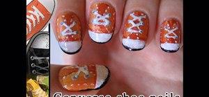 Paint Converse shoe nails