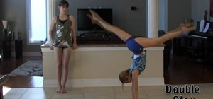 Do a professional hand stand in gymnastics