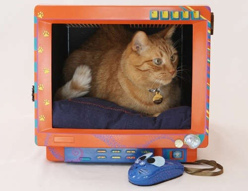 How to Make a Nerdy Cat Bed from a Computer Monitor
