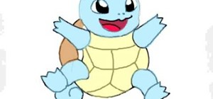 Draw Squirtle from Pokémon