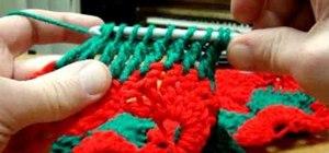 Crochet a jumbo pinwheel swirl stitch