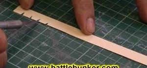 Make shingles for a Tudor style roof on a dollhouse