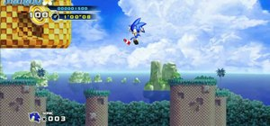 Walkthrough the side-scrolling video game Sonic the Hedgehog 4