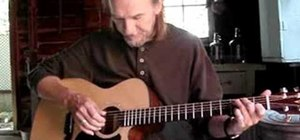 Play a folk style progression in G on acoustic guitar