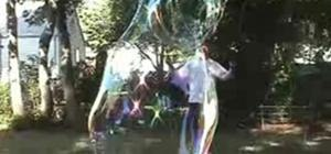 Blow human-sized giant bubbles